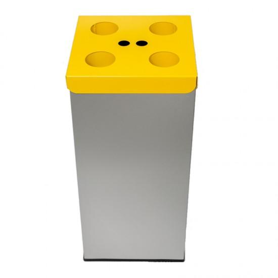 Emtra recycle afvalbak bekers geel 50 L