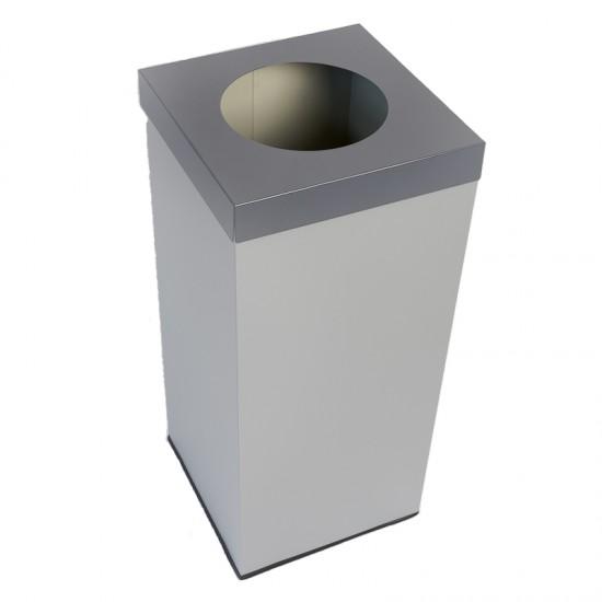 Emtra recycle afvalbak grijs 50 L