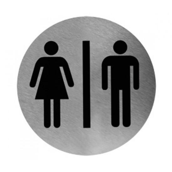 Pictogram RVS man/ vrouw