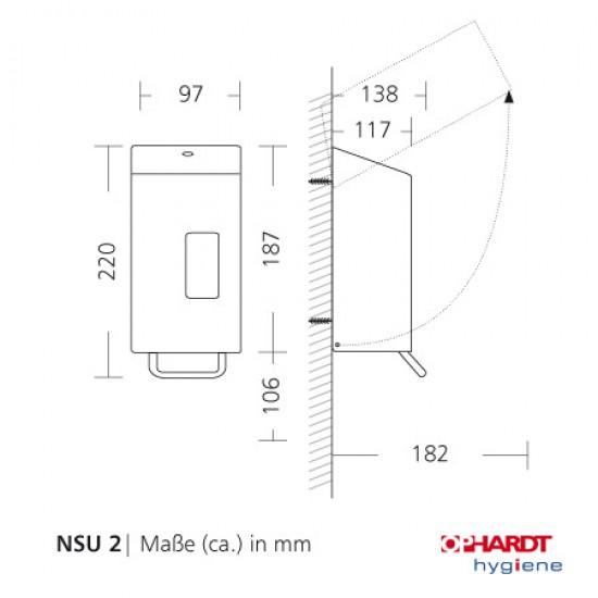 SanTRAL zeepdispenser 0,250 L RAL 9005 Gitzwart Midnight